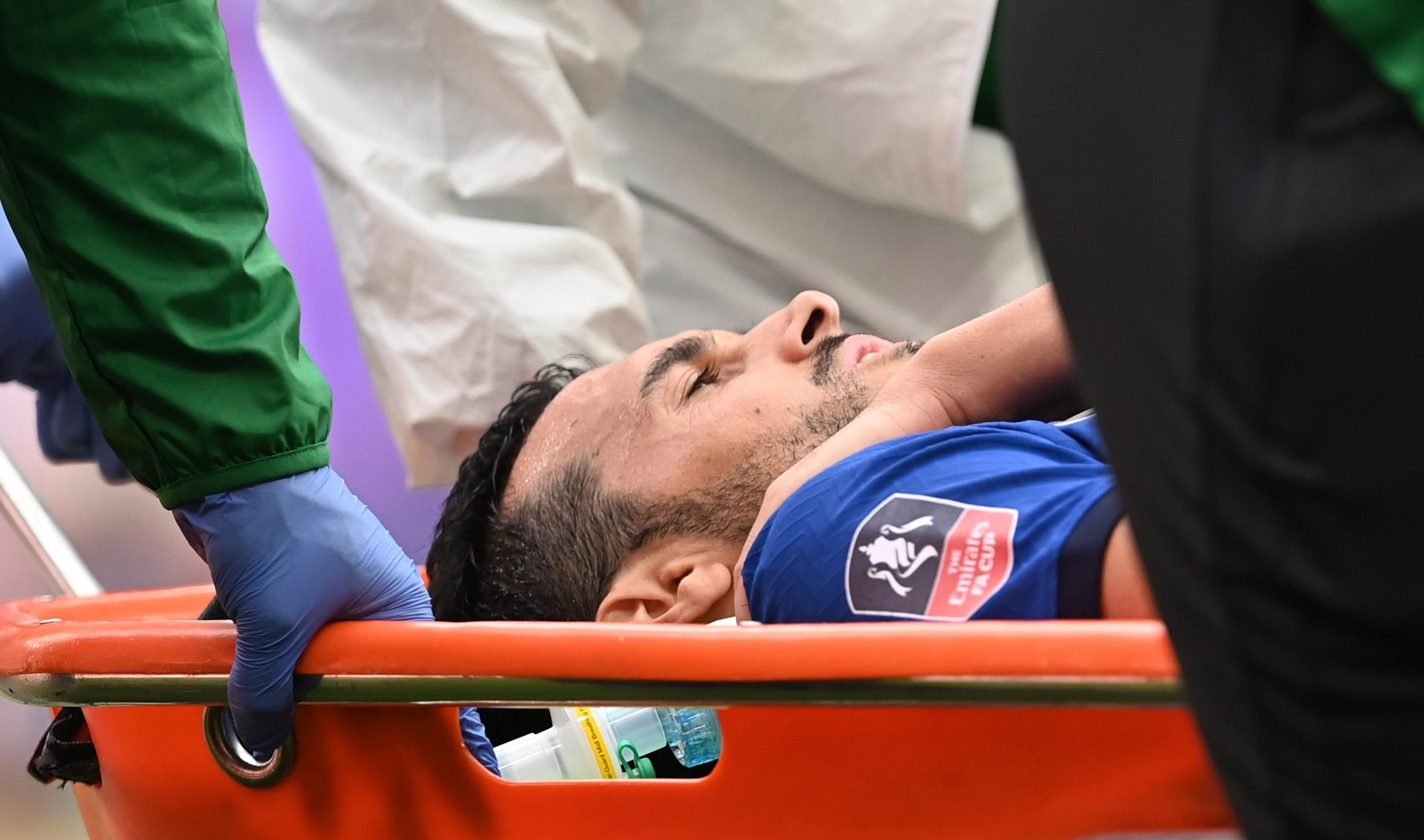 Pedro suffered a shoulder injury in the final stages of the game