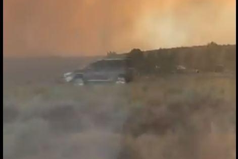 Northern California wildfire spawns rare firenado