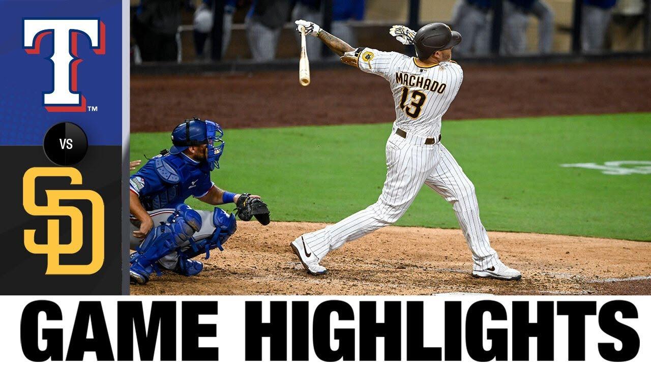 Padres' Manny Machado rips Rangers with walk-off grand slam