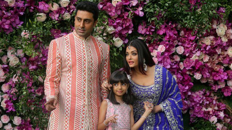 Abhishek Bachchan, his wife Aishwarya Rai Bachchan and their daughter Aaradhya