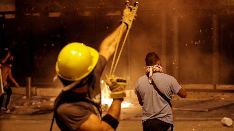 Ministers quit as violent protests grip Beirut after blast