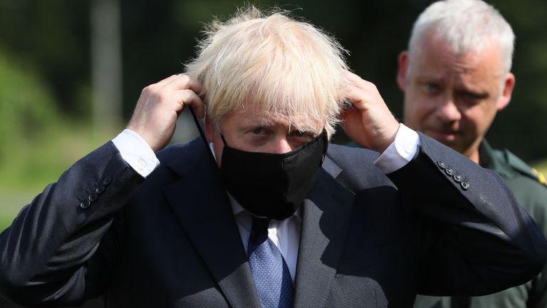 Boris Johnson spoke while on a visit to Northern Ireland today