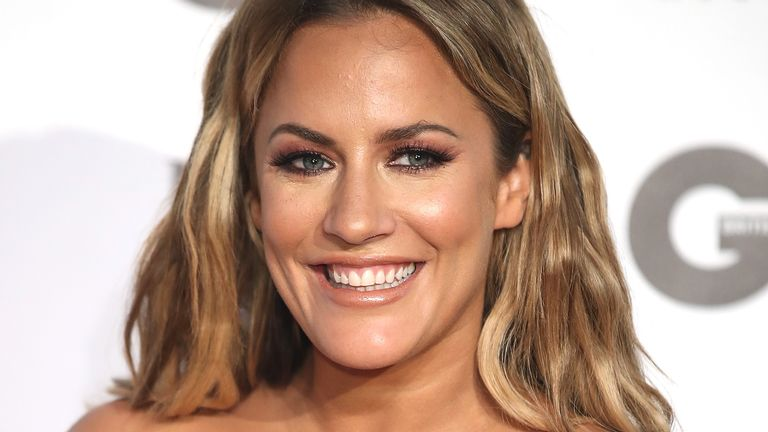 Caroline Flack attends the GQ Men of the Year awards at Tate Modern on September 5, 2018 in London