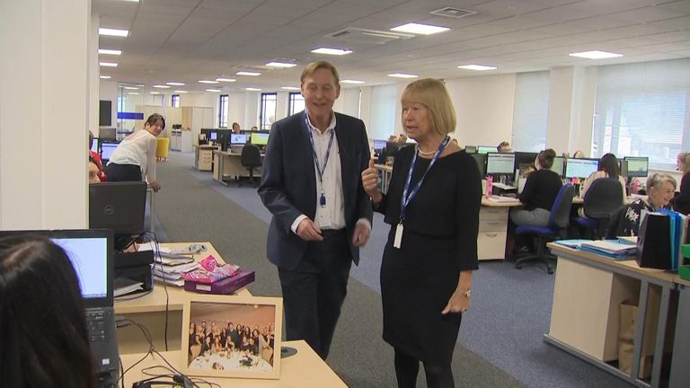 John and Irene Hays, the couple behind Hays Travel which is buying Thomas Cook's high street stores