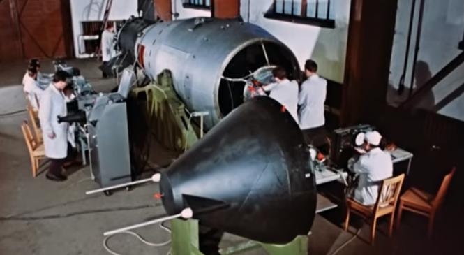 Largest-ever hydrogen bomb blast shown in declassified Russian video