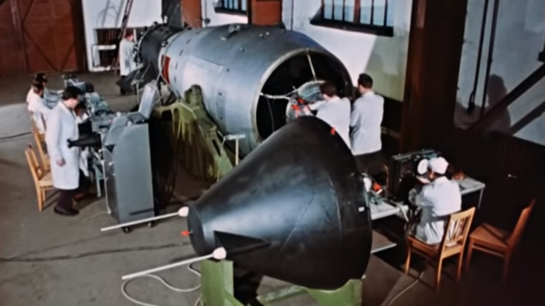 Tsar Bomba was the most powerful nuclear weapon ever built and tested. Pic: Rosatom