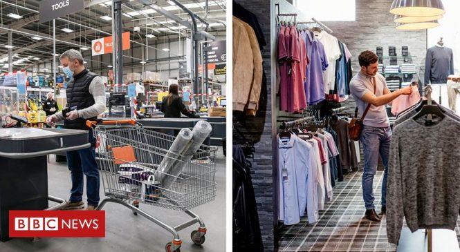 UK DIY sales soar but clothing stores fall behind