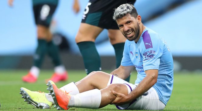 Sergio Aguero could be out for another two months as Pep Guardiola reveals knee injury troubles