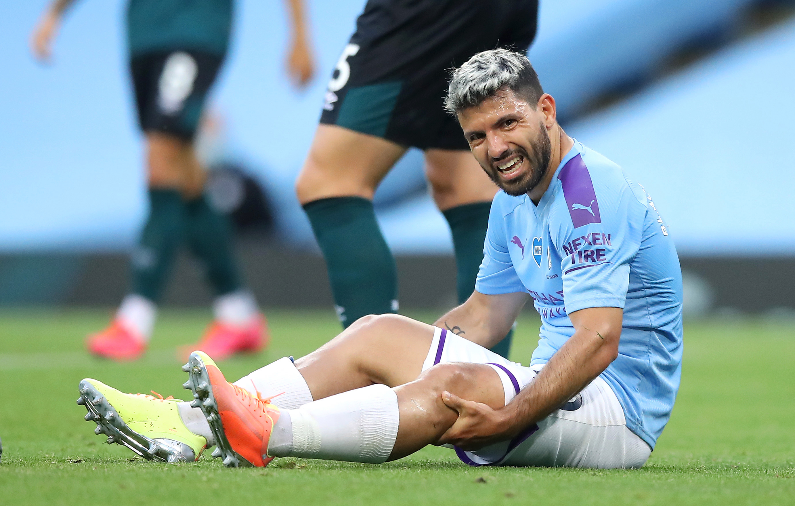 Aguero limped off against Burnley back in June