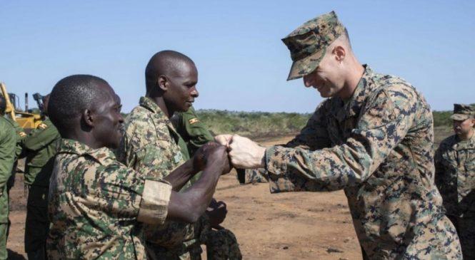 Military leaders mark end of U.S. Marines engagment in Uganda