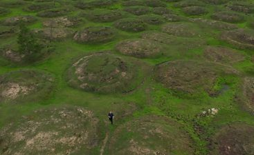 Siberia landscape scarred by climate change