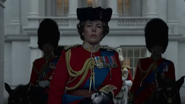Olivia Colman as the Queen in trailer for season four of The Crown. Pic: Netflix