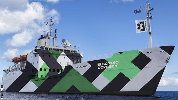 Extreme E's St Helena ship