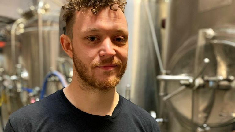 William Harris helps run the Wild Card Brewery in East London