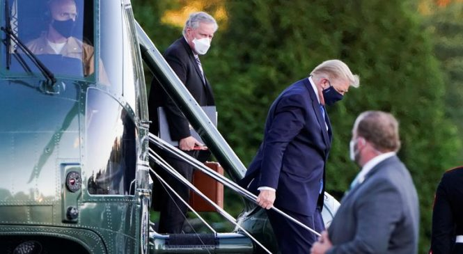 Trump airlifted to military hospital – less than 24 hours after coronavirus diagnosis