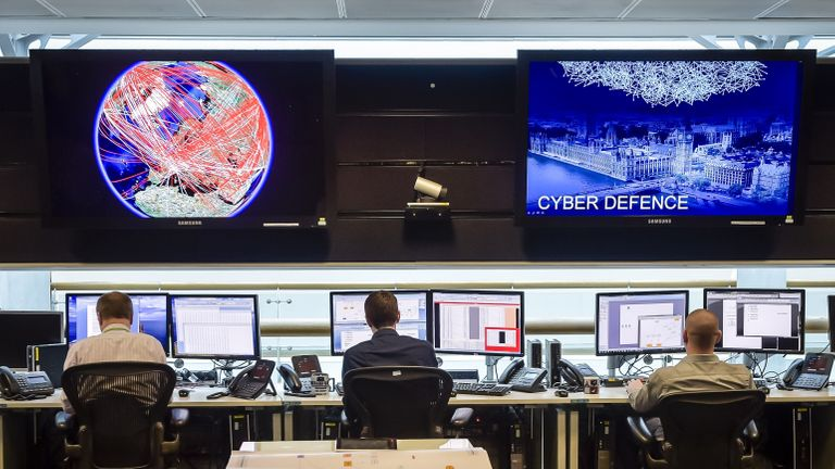 A general view of the 24 hour operations room at Government Communication Headquarters (GCHQ) in Cheltenham on November 17, 2015. AFP PHOTO / POOL / Ben Birchall        (Photo credit should read Ben Birchall/AFP via Getty Images)