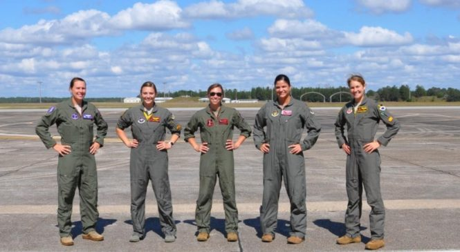 Five female fighter pilots test G-force suits modified for women