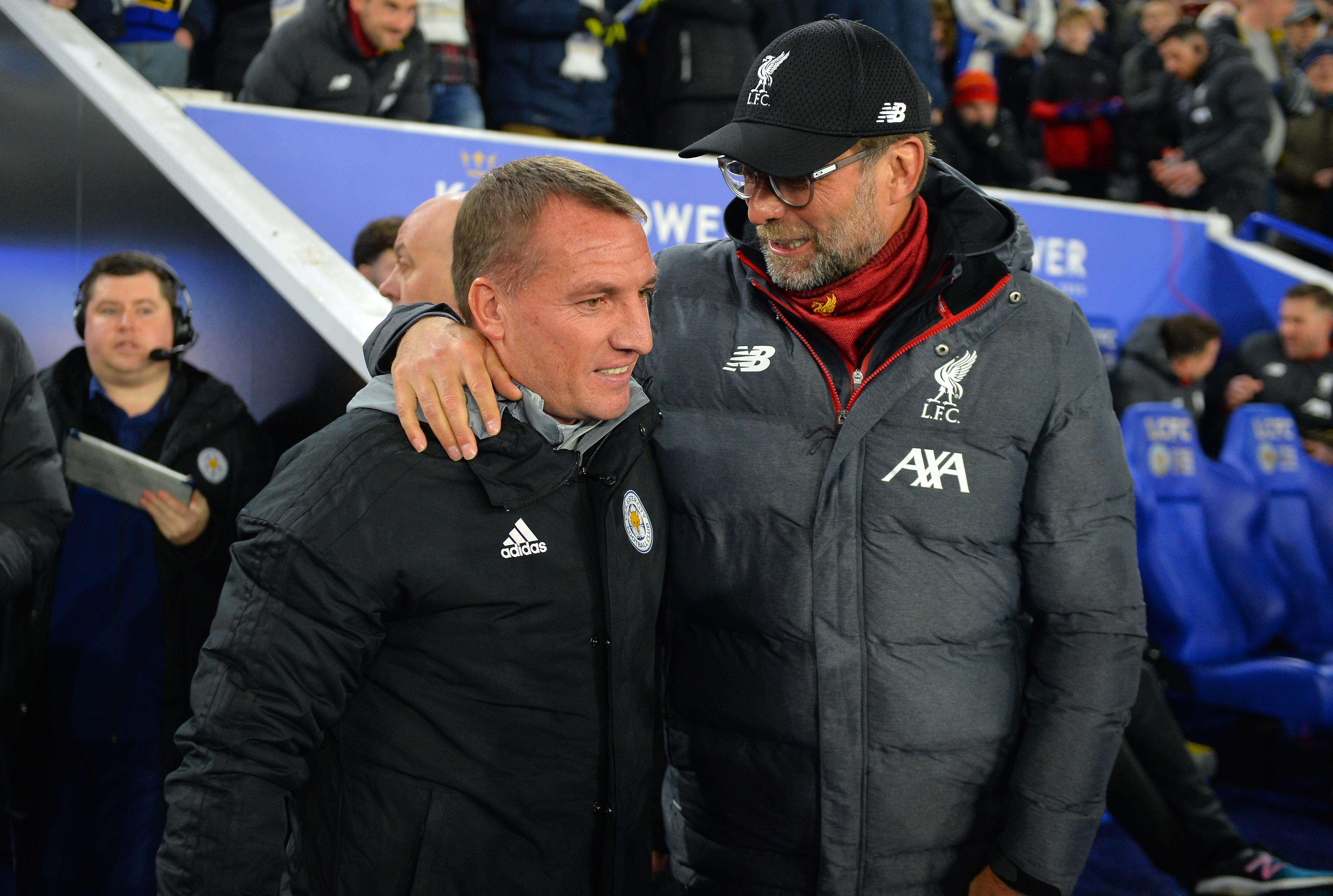 Brendan Rodgers will look to get one over his Liverpool successor, Jurgen Klopp, this weekend