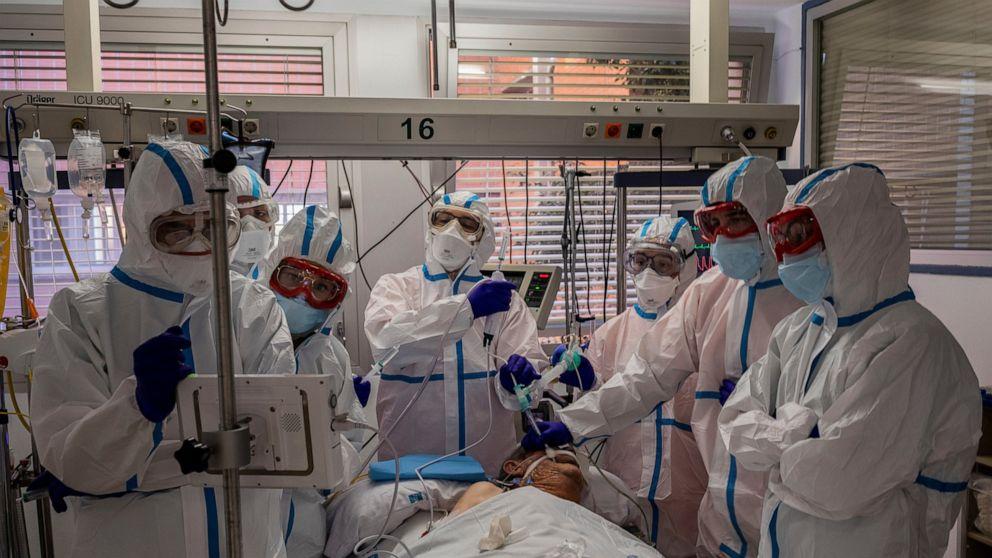 As virus spikes, Europe runs low on ICU beds, hospital staff
