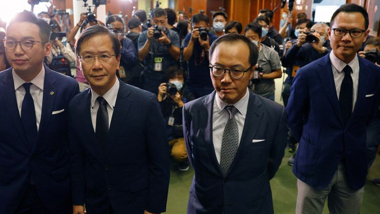 Hong Kong opposition politicians resign en masse after four disqualified
