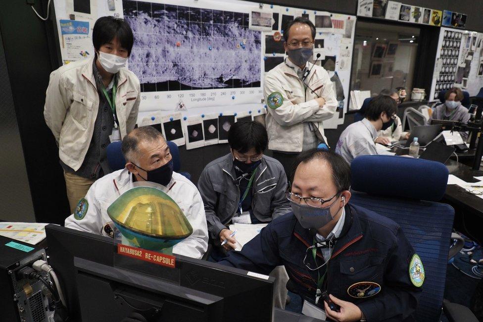 Mission control in Sagamihara, Japan