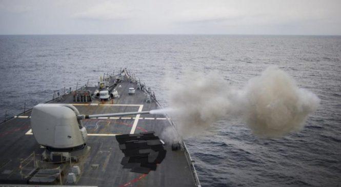 USS John McCain navigates through South China Sea