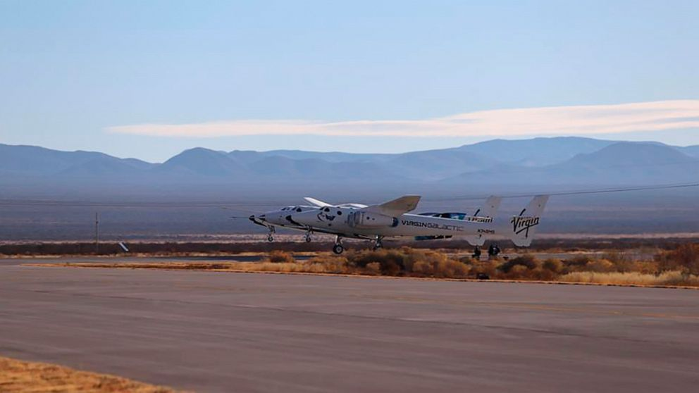 Rocket motor fails to ignite on Virgin Galactic test flight