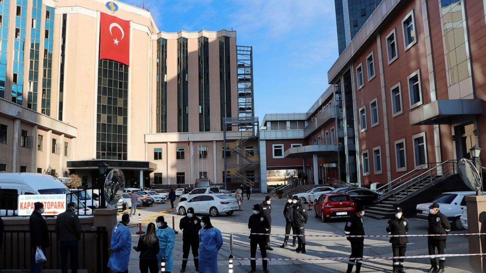 Hospital fire kills 8 COVID-19 patients at ICU in Turkey