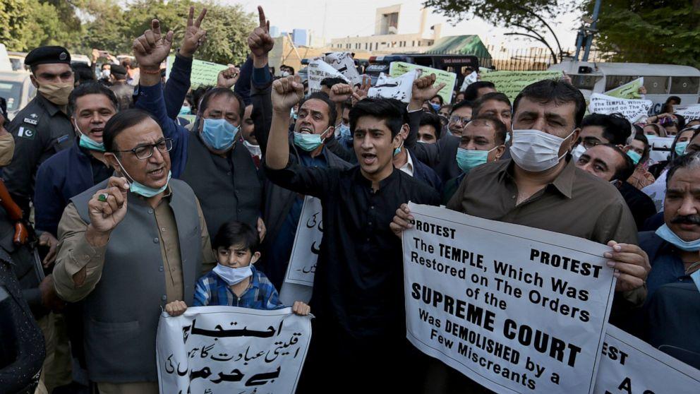 Pakistan arrests 14 people over demolishing of Hindu temple