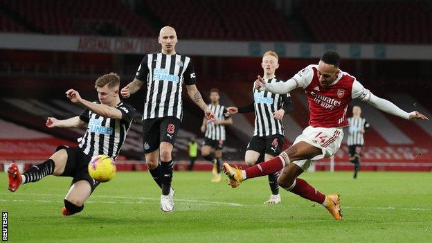 Arsenal 3-0 Newcastle: Pierre-Emerick Aubameyang and Bukayo Saka score for Gunners