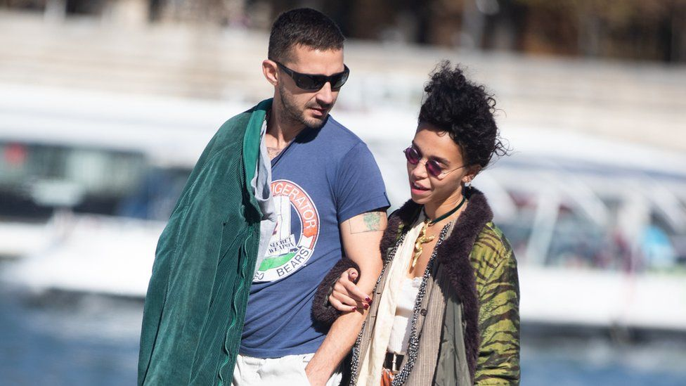 FKA Twigs and Shia LaBeouf pictured in Paris in September 2018