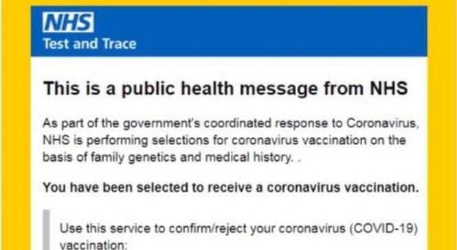 Beware fake Covid vaccination invites, NHS warns