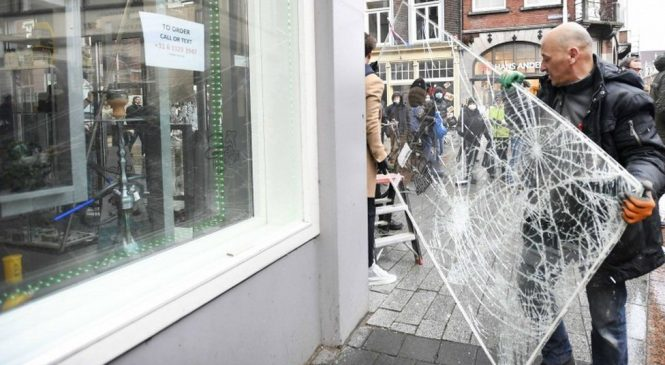 Dutch riots: 'It's scum doing this'