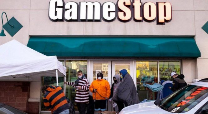 Gamestop: 'Failing' firm soars in value as amateurs buy stock