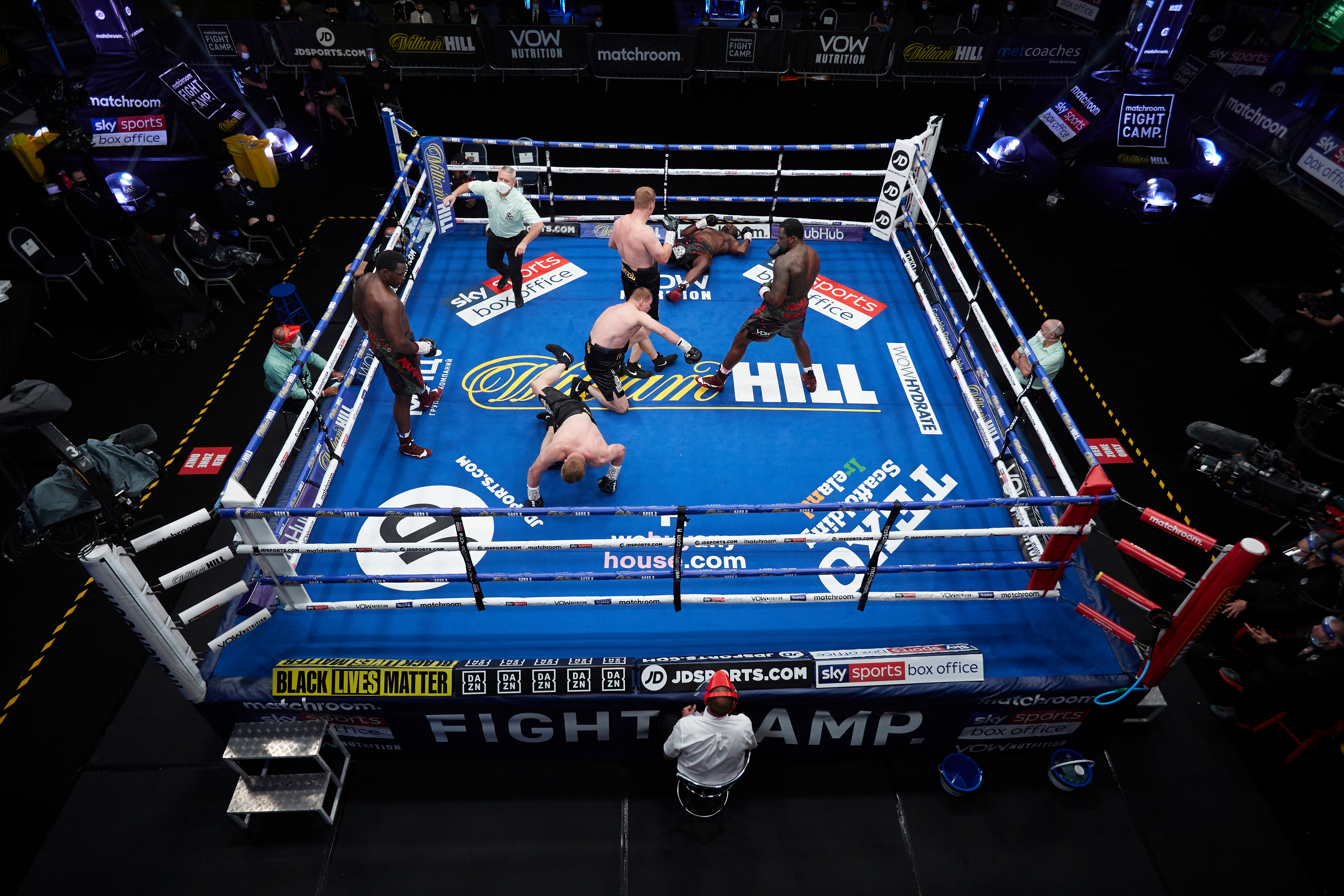 Whyte knocked Povetkin down twice, but was then knocked out
