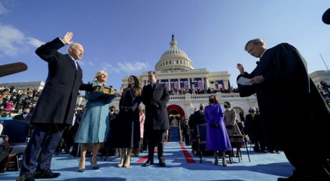 Stars react to presidential inauguration: 'Today, we make history'