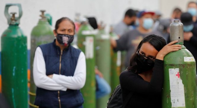 Record deaths, cases In Mexico strain health resources; world toll 2.1M
