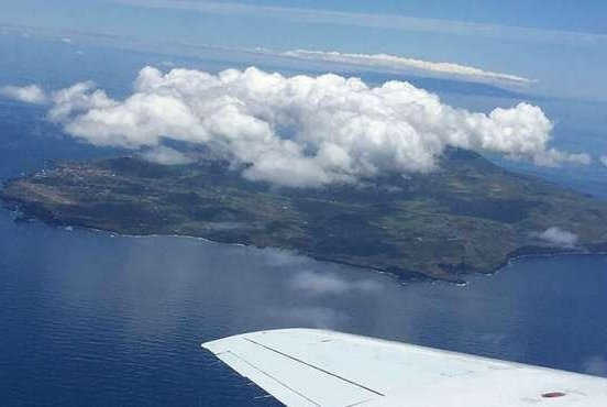 Tiny particles formed from trace gases can seed open ocean clouds