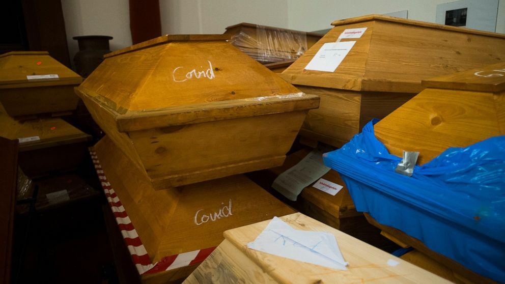 Bodies pile up at crematorium in Germany's virus hot spot