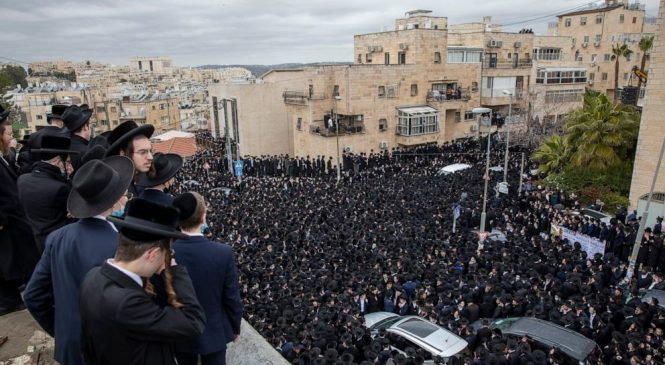 Thousands join in Jerusalem funerals, flout pandemic rules
