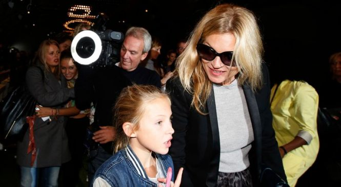 Kate Moss and daughter Lila star in Paris catwalk show together