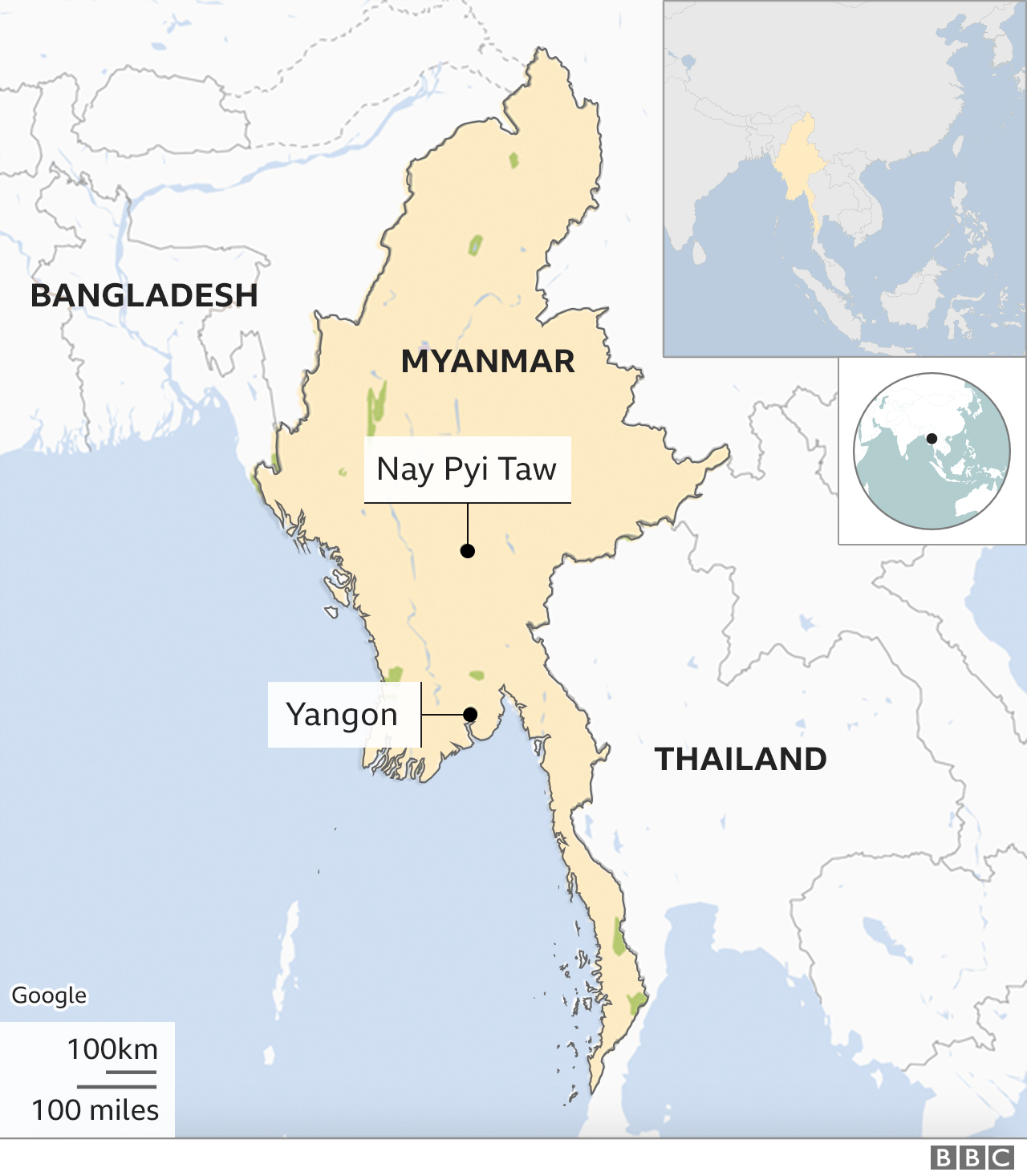 Myanmar coup: Police fire rubber bullets as protesters defy ban