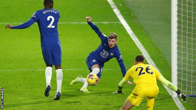 Chelsea 2-0 Newcastle: Timo Werner ends goal drought in Blues win