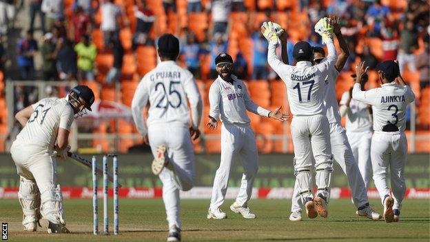 India v England: Hosts win astonishing third Test in two days