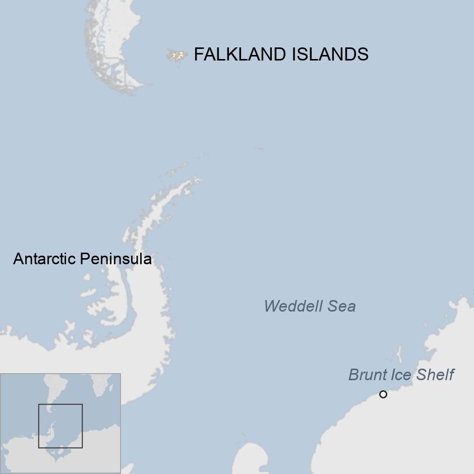 Map of Antarctic region