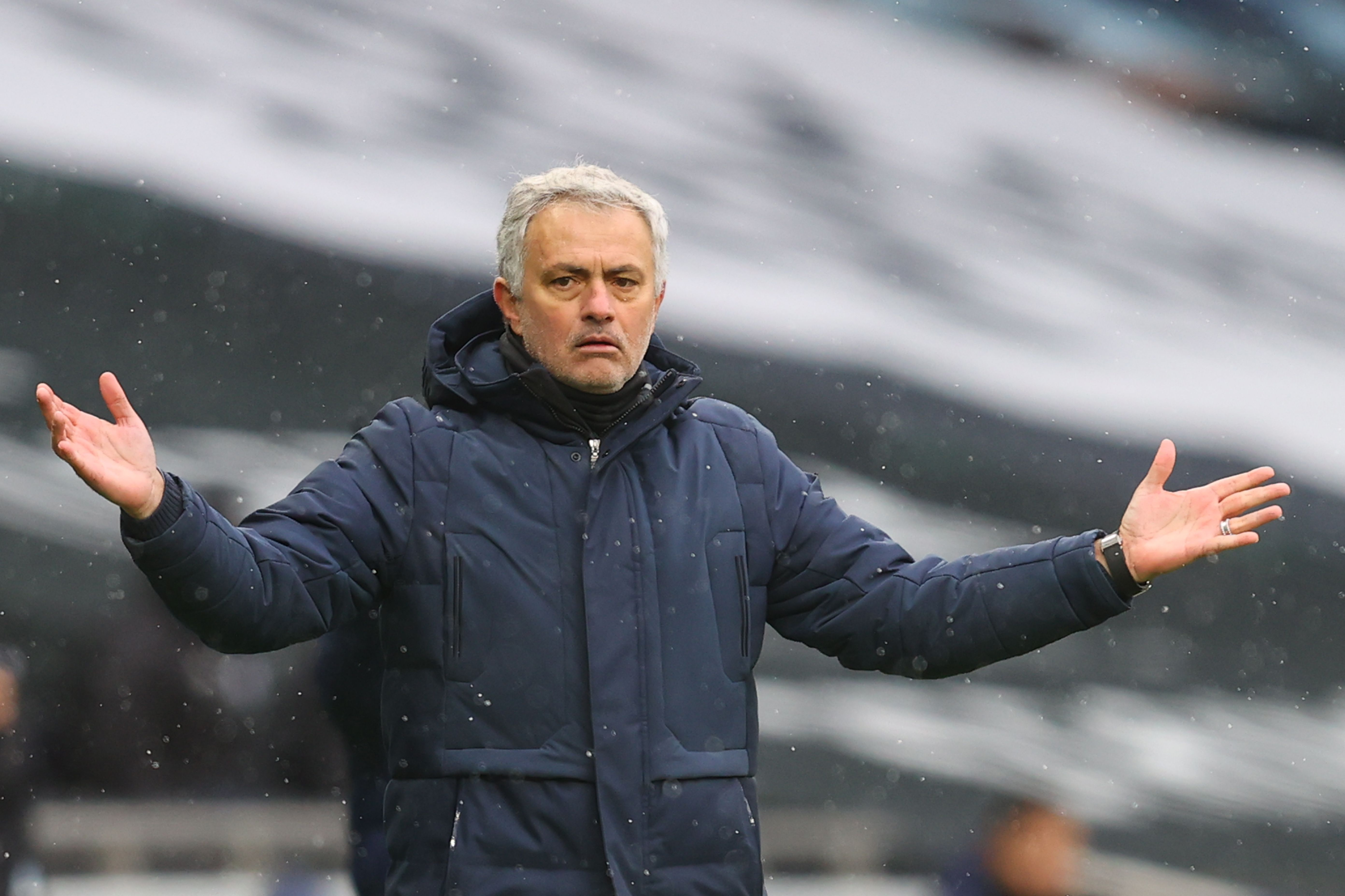 Mourinho is under pressure to deliver trophies for Tottenham