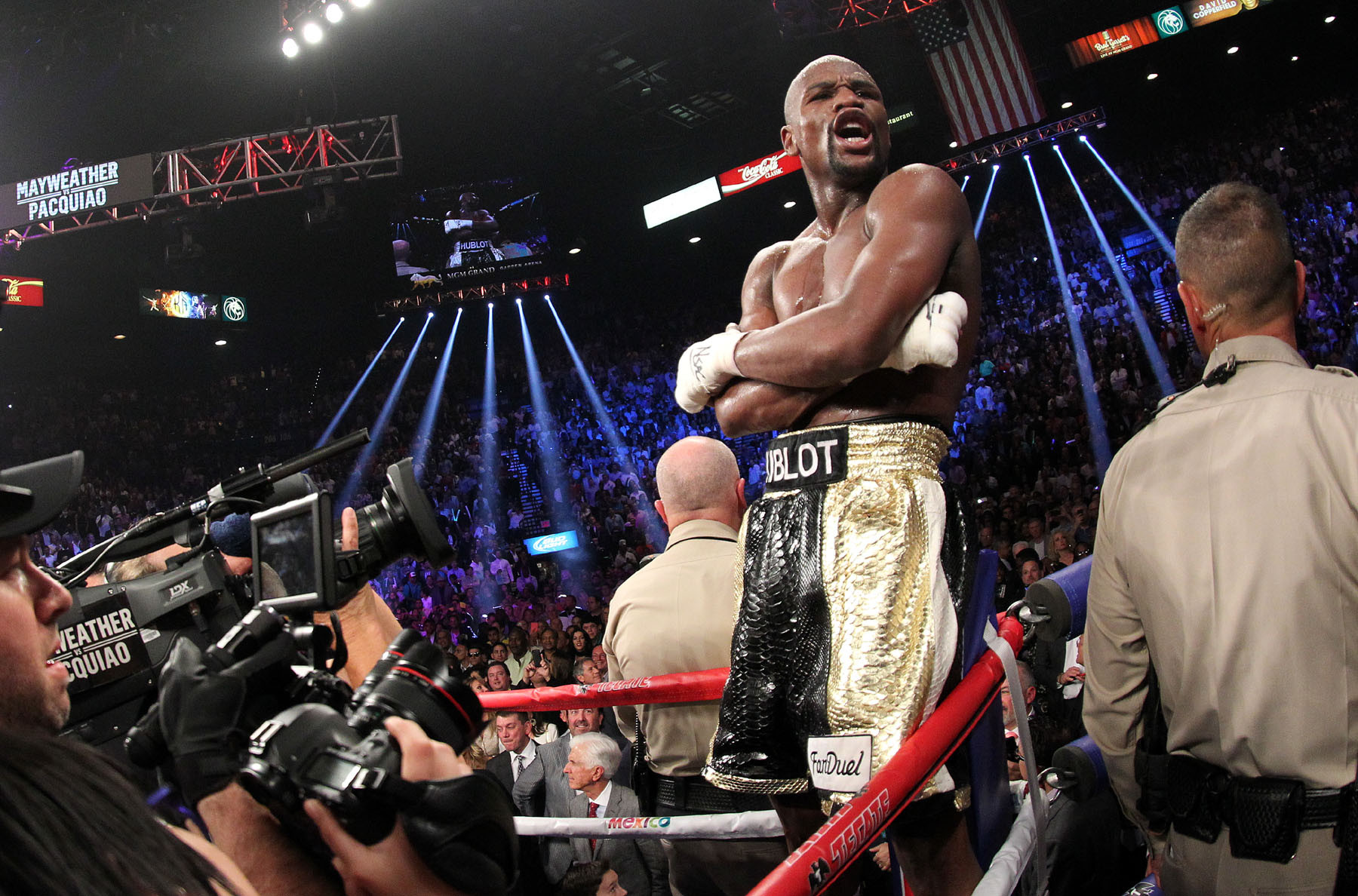 Floyd Mayweather and Jake Paul exchange insults after Mayweather reveals he wants exhibitions with Jake and 50 Cent following next bout against Logan Paul