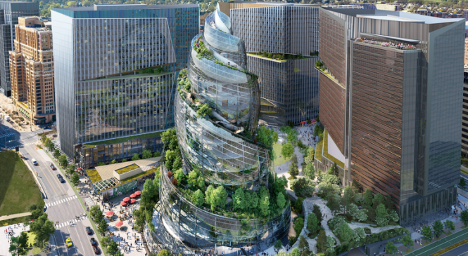 Amazon unveils Helix building as centrepiece of new campus – some compare it to poop emoji