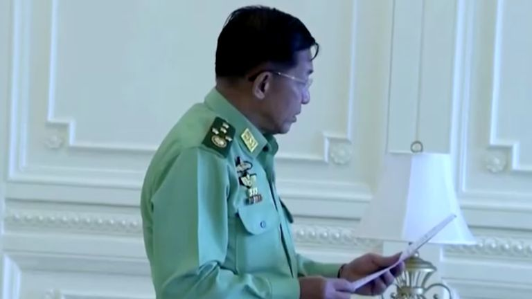 Myanmar coup: Army takes control after detaining Aung San Suu Kyi