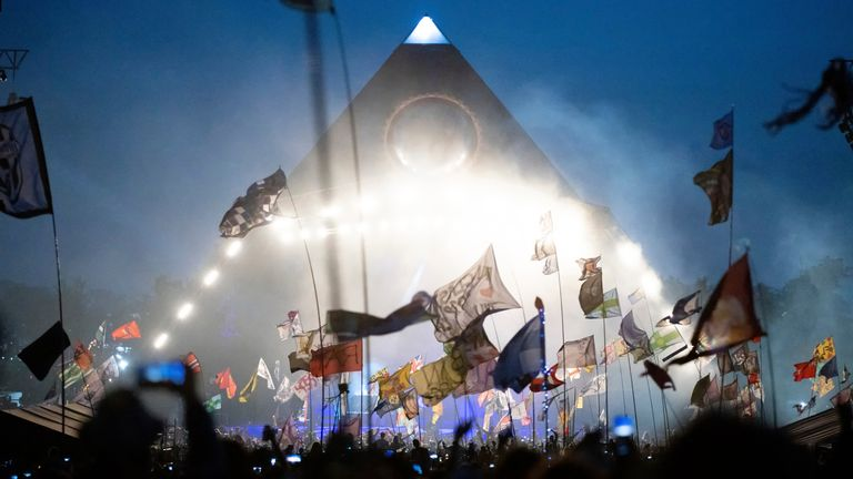 The Pyramid Stage at Glastonbury Festival. Pic: AP